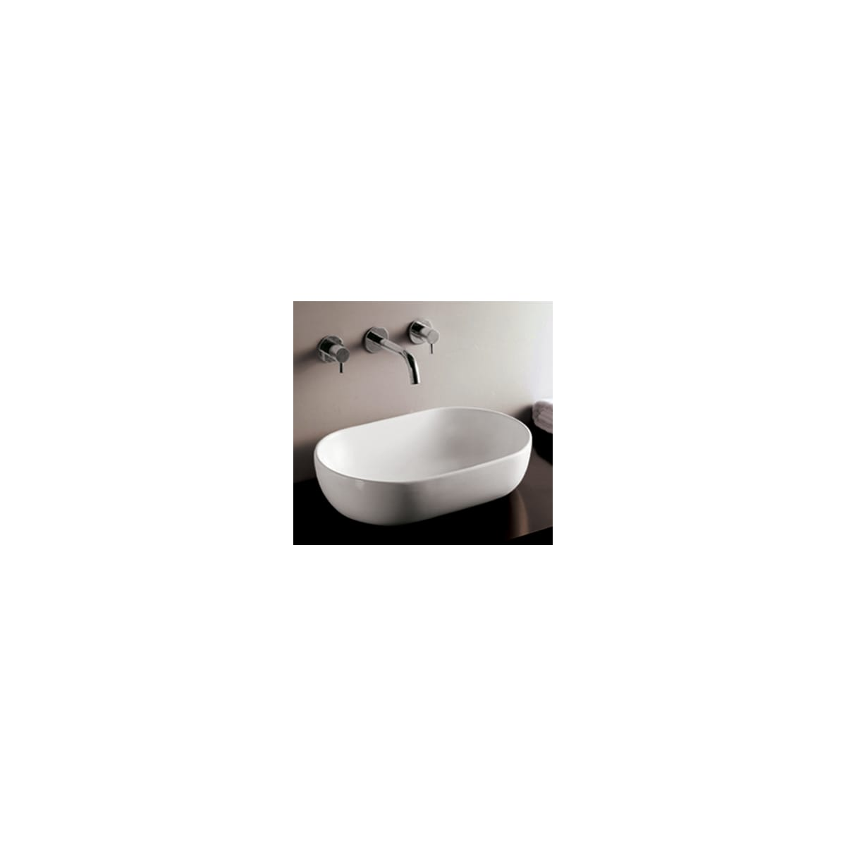 Whitehaus Whkn1080 White Isabella 23 1 4 Oval Porcelain Vessel Bathroom Sink Faucetdirect Com
