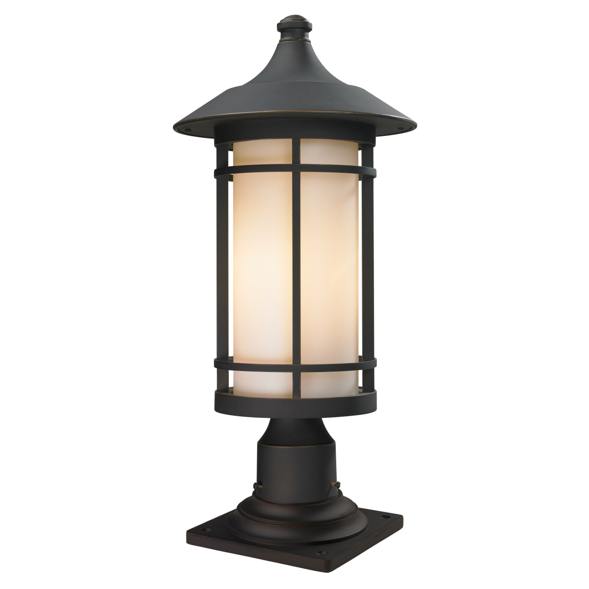Z Lite 528phb 533pm Orb Oil Rubbed Bronze Woodland 1 Light Outdoor