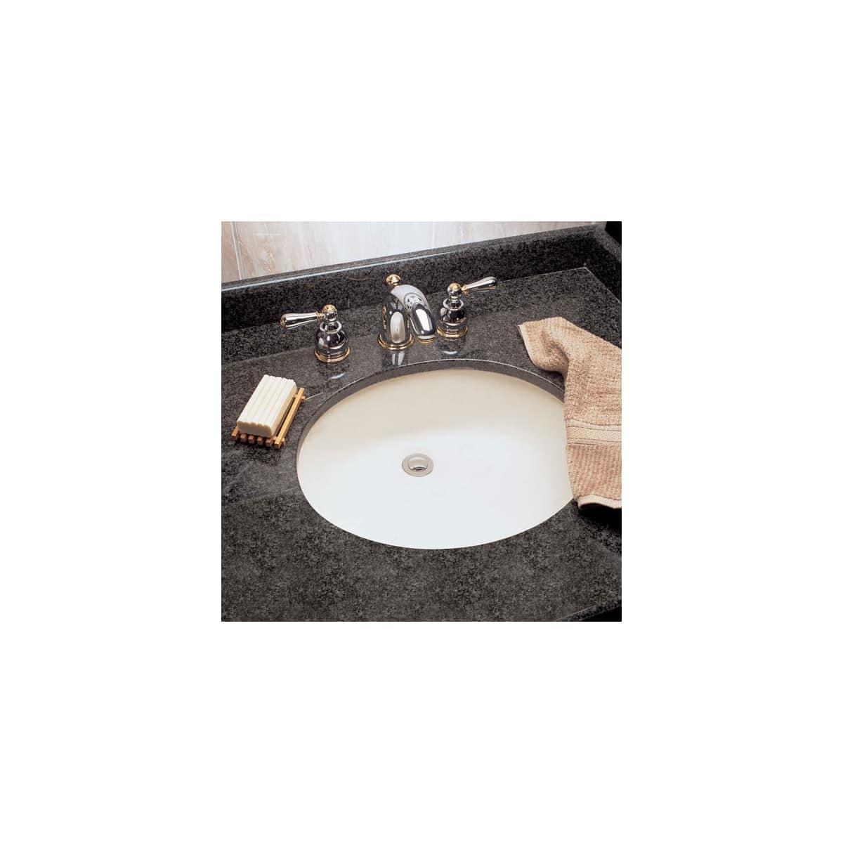 American standard 0495 221 020 white ovalyn 15 undermount porcelain bathroom sink faucet com