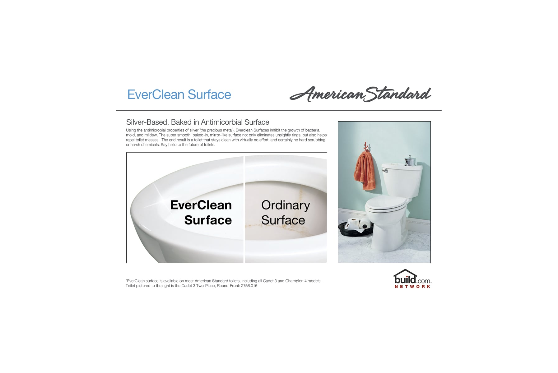 American Standard 215aa104020 White Cadet Pro Elongated Two Piece Urinal Wiring Diagram Toilet With Everclean Surface Powerwash Rim And Right Height Bowl