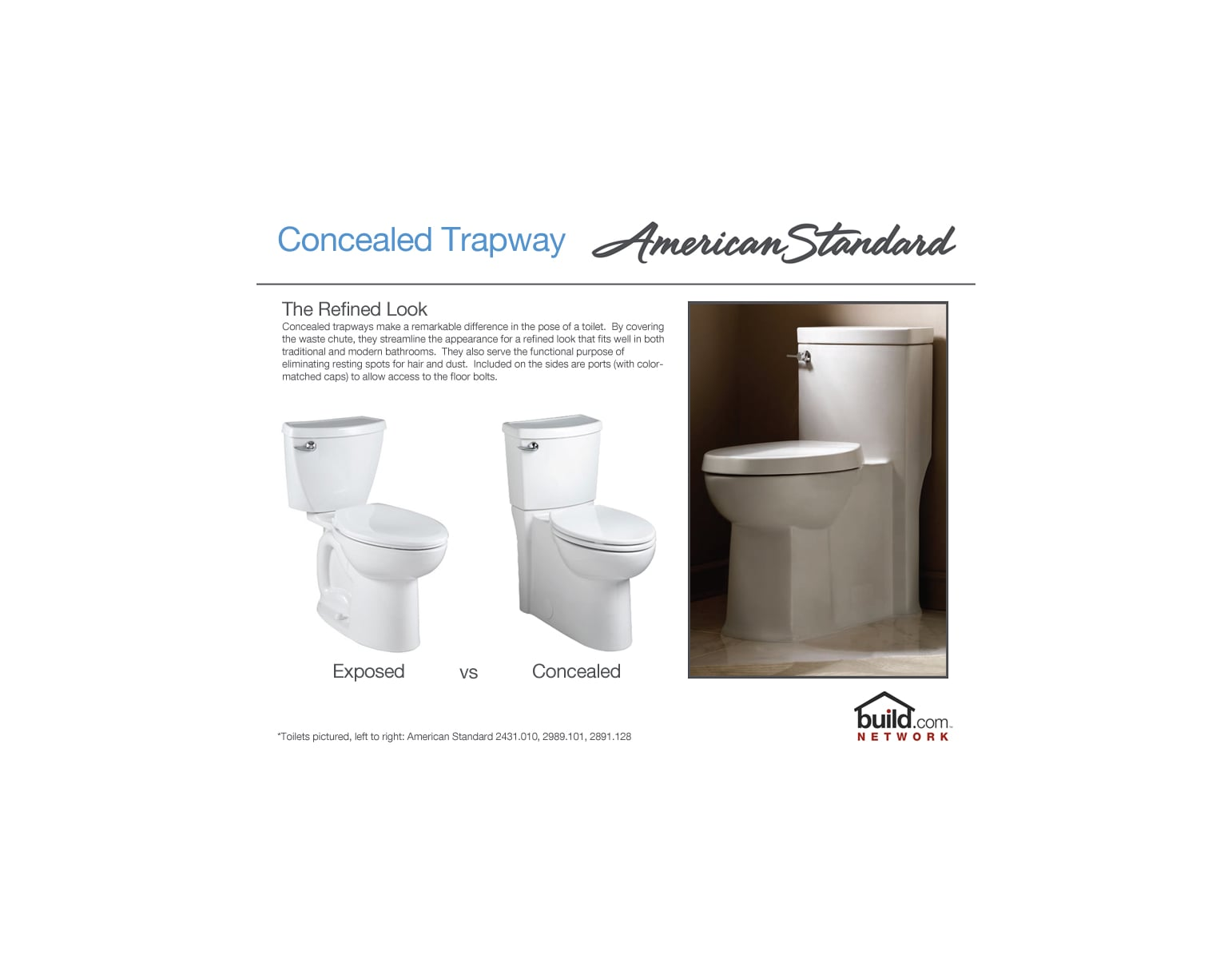 American Standard 2847.128.020 White Town Square 1.28 GPF One-Piece ...
