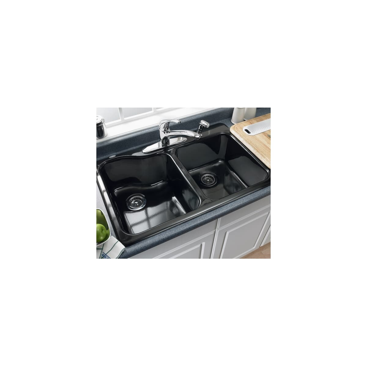 American Standard 7145 001 345 Bisque Double Basin Americast Kitchen