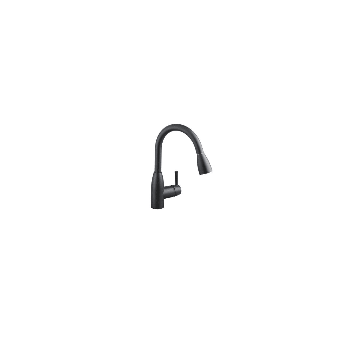 American Standard 4005mbf Matte Black Fairbury Pull Down High Arc Kitchen Faucet Faucet Com