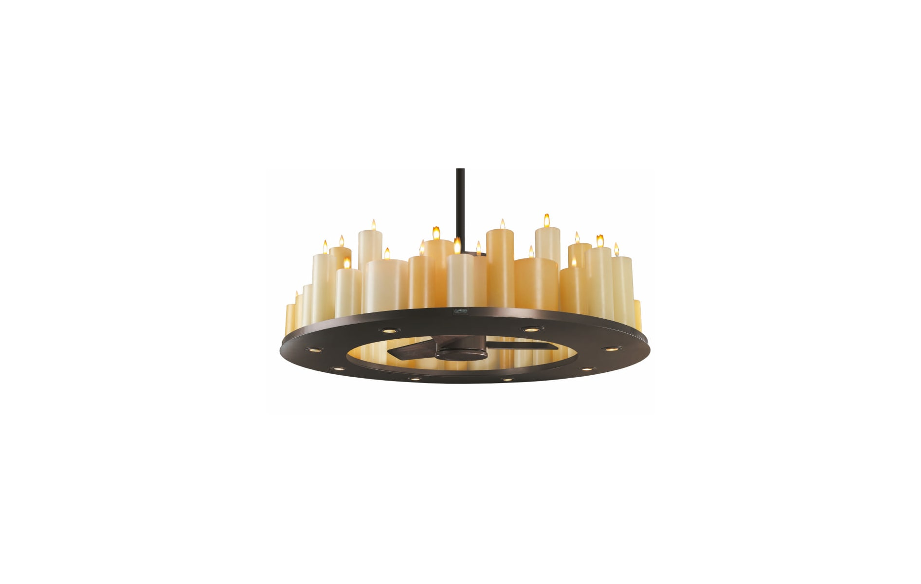 Casablanca C16g73t Oil Rubbed Bronze Candle Lit Chandelier Ceiling Circuits Flickering Fan Combo With Real Wax Candles And Bulbs