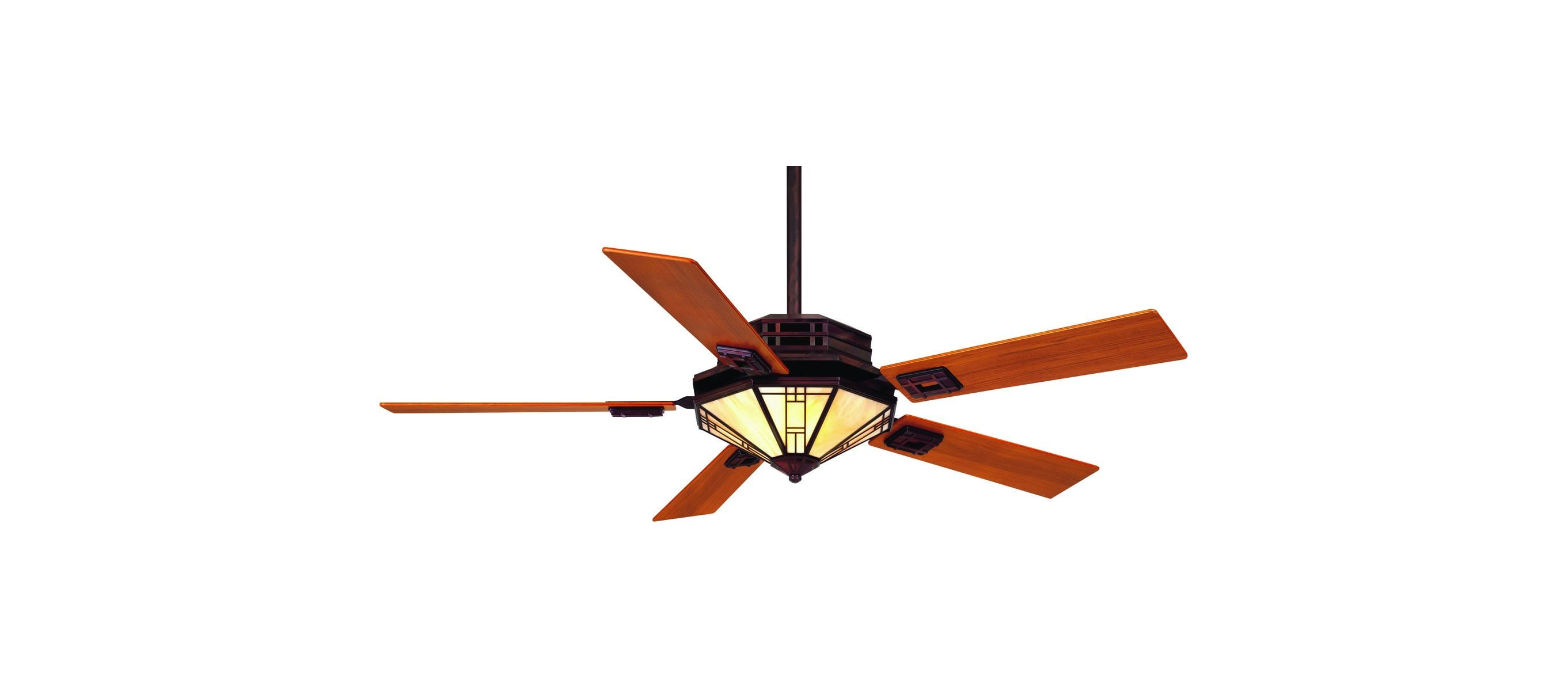 Casablanca 97052z Bronze Patina Mission 56 5 Blade Ceiling Fan Blades Light Kit And Wall Control Included Lightingdirect Com