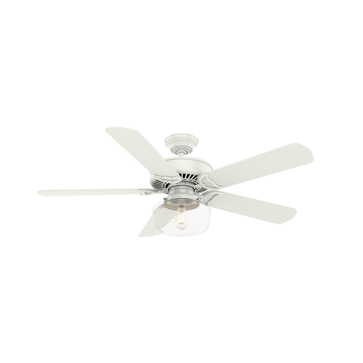Casablanca 55082 Fresh White Panama 54 5 Blade Indoor Ceiling Fan Wall Control And Light Kit Included Lightingdirect Com