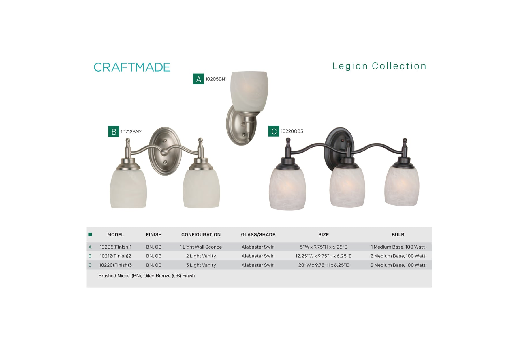 craftmade wiring diagram craftmade 10205ob1 oiled bronze legion 10  tall 1 light bathroom  craftmade 10205ob1 oiled bronze legion