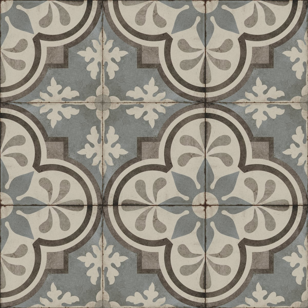 Daltile Quartetto in Cool Fiore Field Tile - Come discover more French Farmhouse Decor inspired by Fixer Upper and click here to Get the Look of The Club House Kitchen & Sun Room. #fixerupper #joannagaines #kitchendecor #frenchfarmhouse
