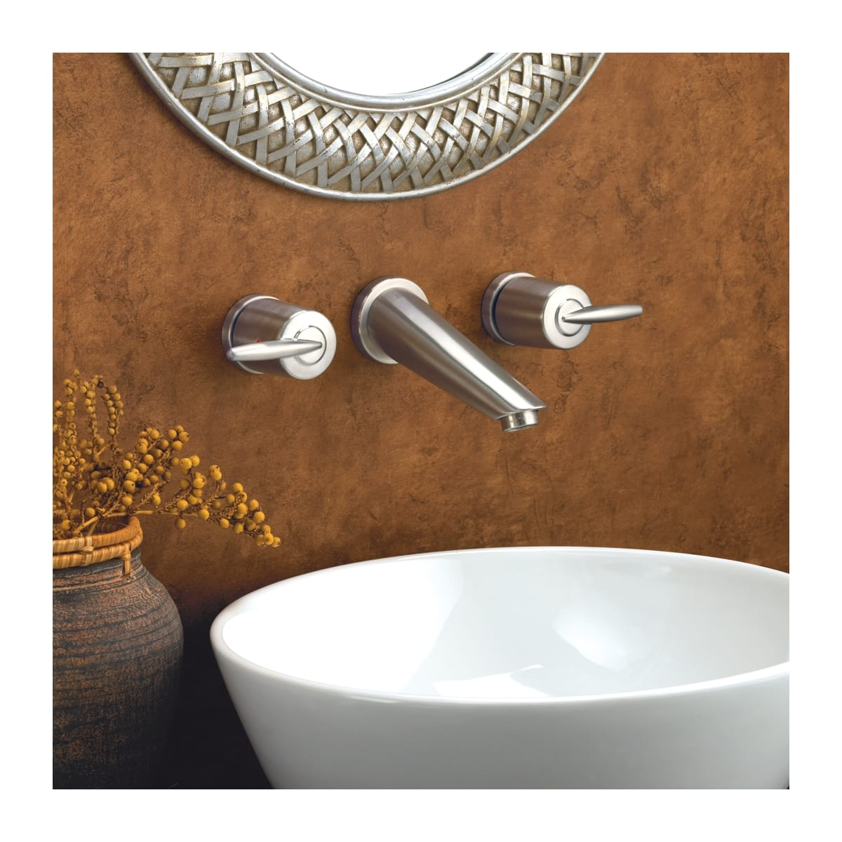Delta 3585LF-SSWL Brilliance Stainless Grail Wall Mounted Bathroom ...