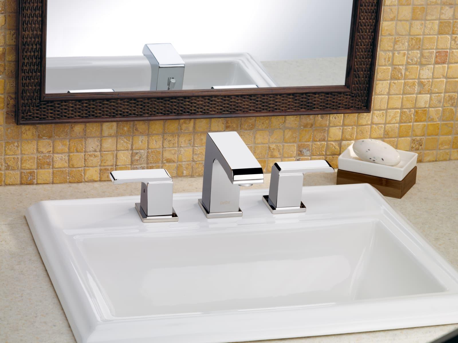 Delta 3586LF-SSMPU Brilliance Stainless Arzo Widespread Bathroom ...