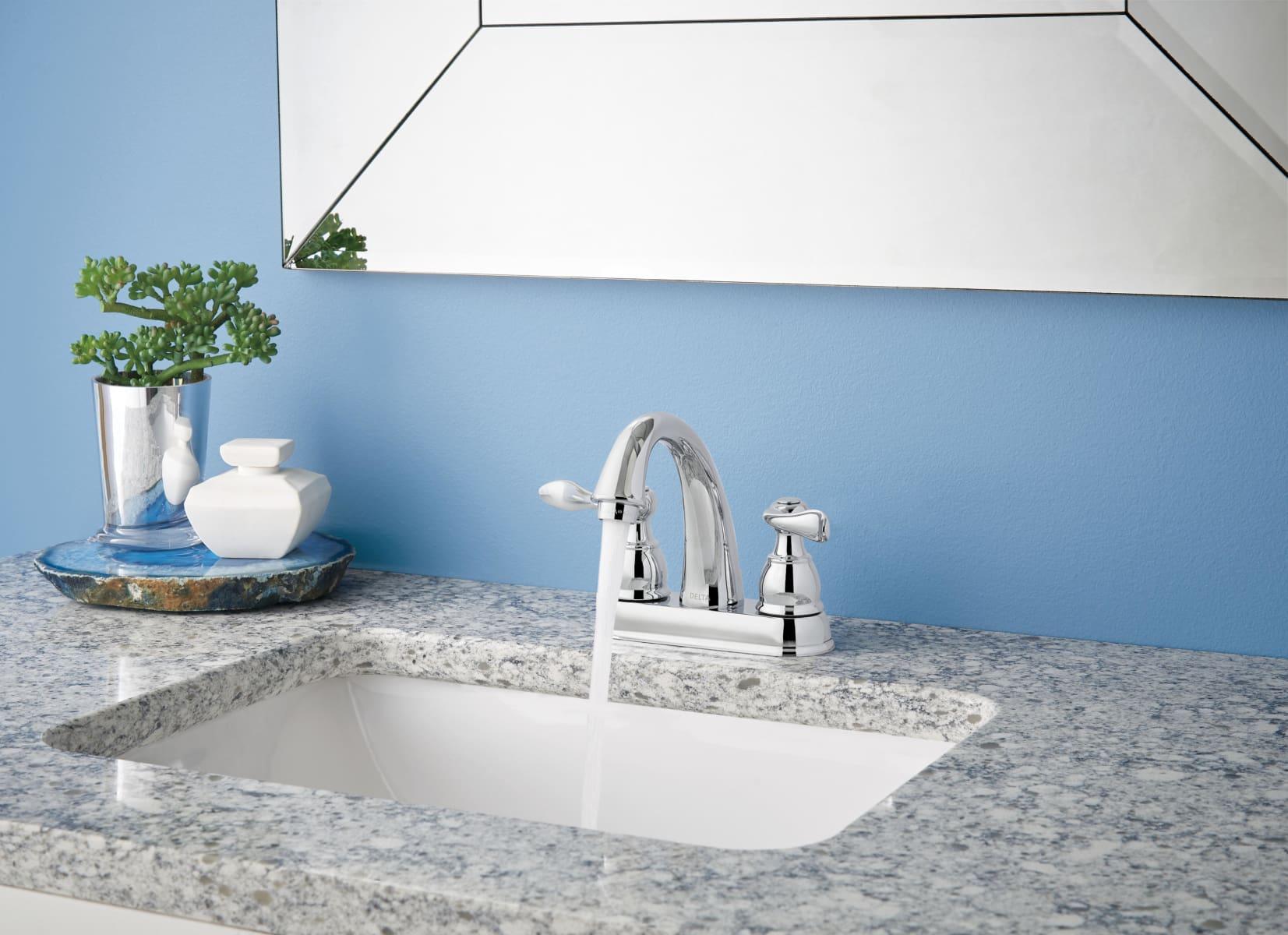 Delta B2596LF-PB Polished Brass Windemere Centerset Bathroom Faucet ...