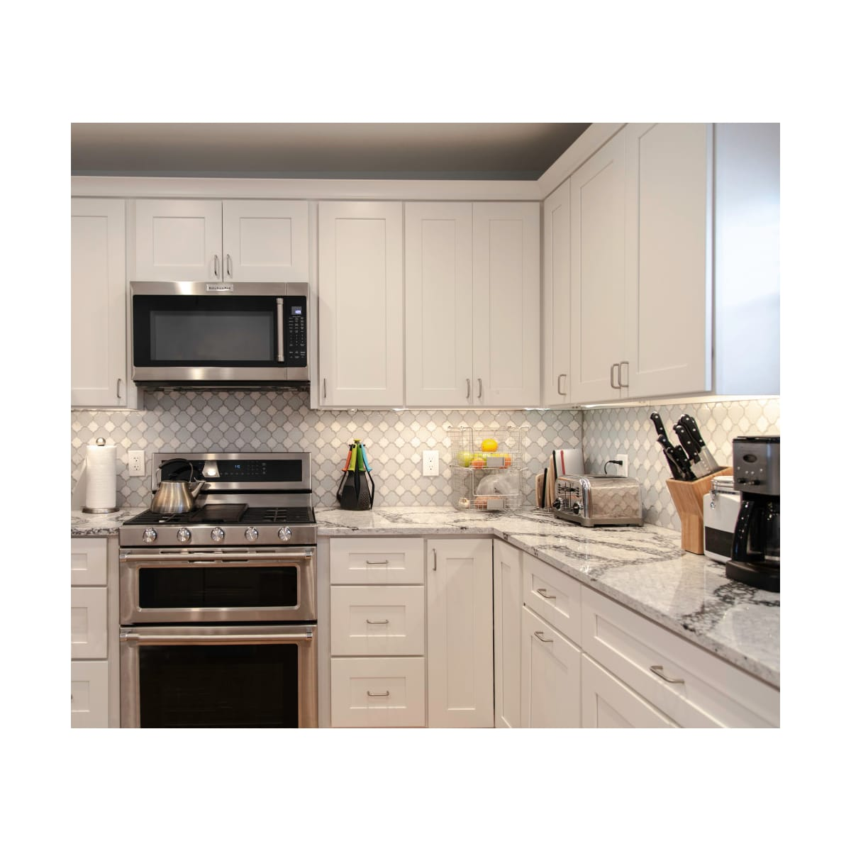 White Shaker Design House 613331 Brookings 12 Fully Assembled Kitchen Wall Cabinet