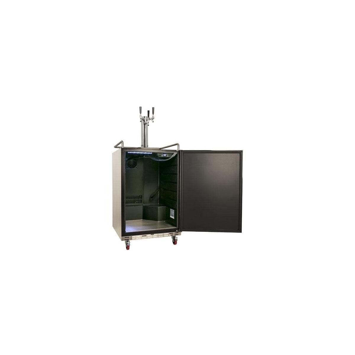 EdgeStar KC3000TRIP Full Size Triple Tap Kegerator with Digital Display Black