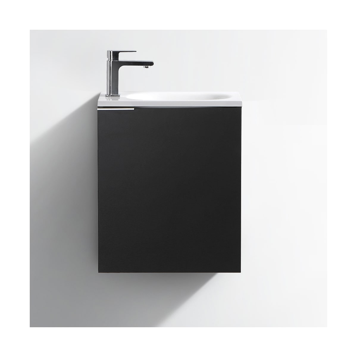 Fresca FCB8003BW-I Black Senza Wall Mounted Single Vanity Set with ...
