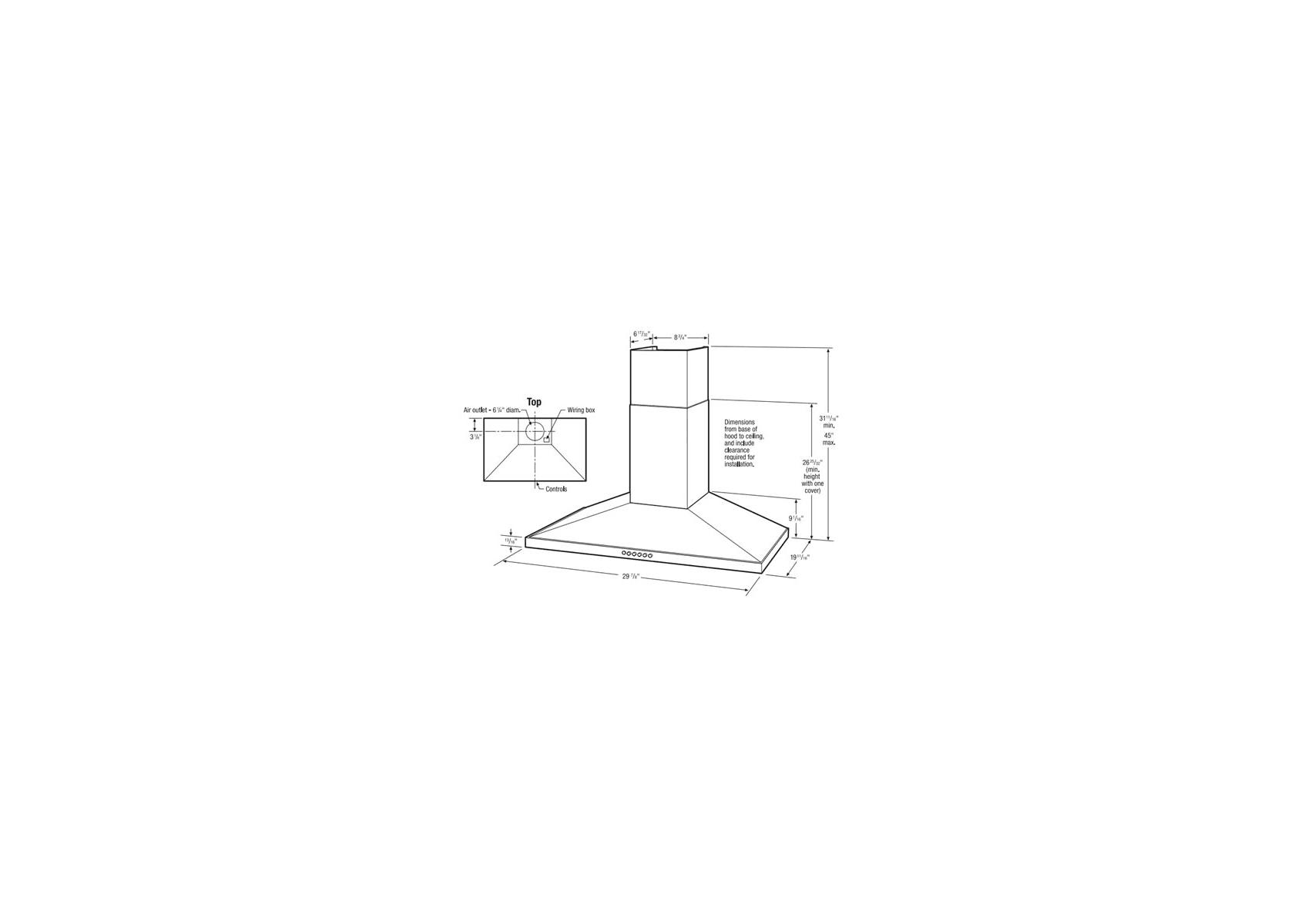 Frigidaire Wall Mounted Range Hood Fhwc3055l Kegerator Wiring Diagram