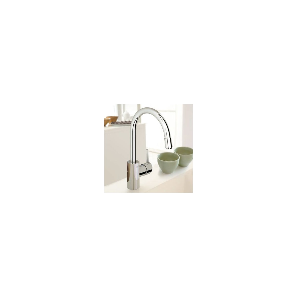 Grohe 32665DC1 SuperSteel Concetto Pull Down High Arc Kitchen Faucet With  Dual Function Locking Sprayer   Faucet.com