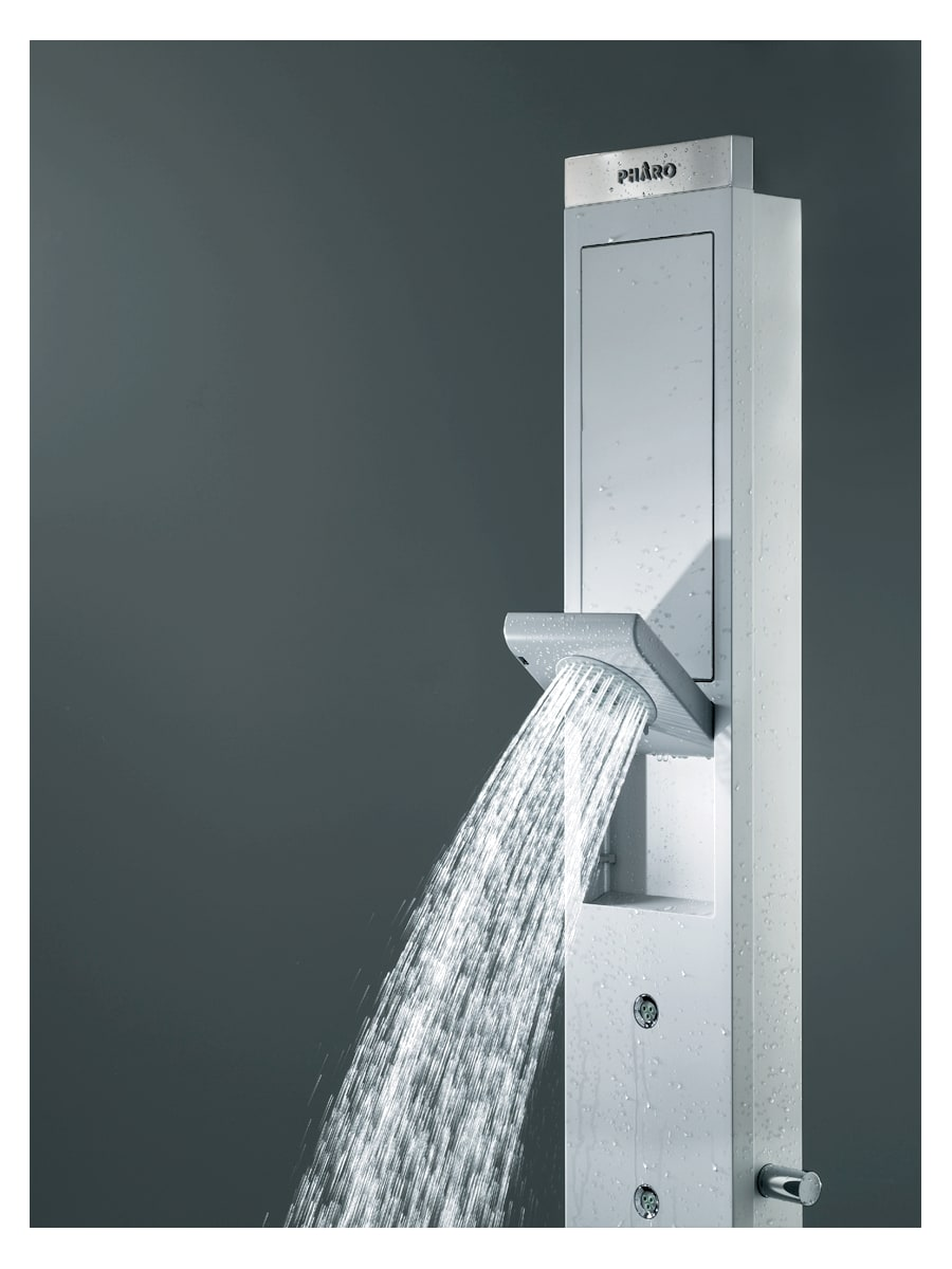 Hansgrohe 26017821 Brushed Nickel Skyline Shower Panel with Single ...