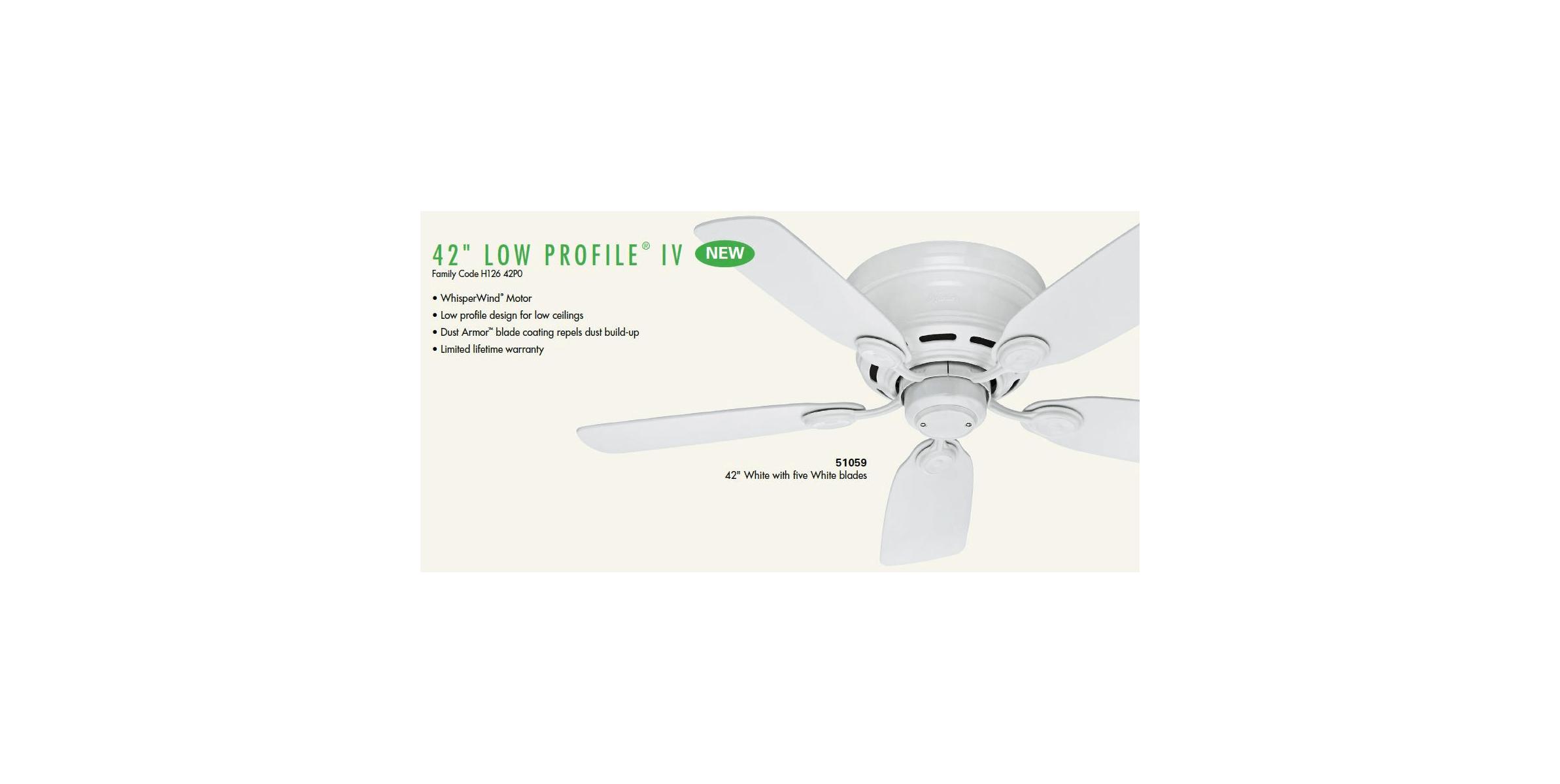 Hunter 51062 Antique Brass 42 Flush Mount Indoor Ceiling Fan 5 Reversible Blades Included Lightingdirect Com