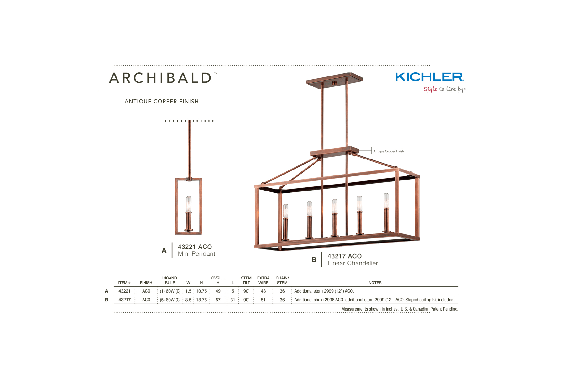 Kichler 43217aco Antique Copper Archibald 1 Tier Chandelier With 5 Wiring Diagram Lights 36 Chain Included 31 Inches Wide