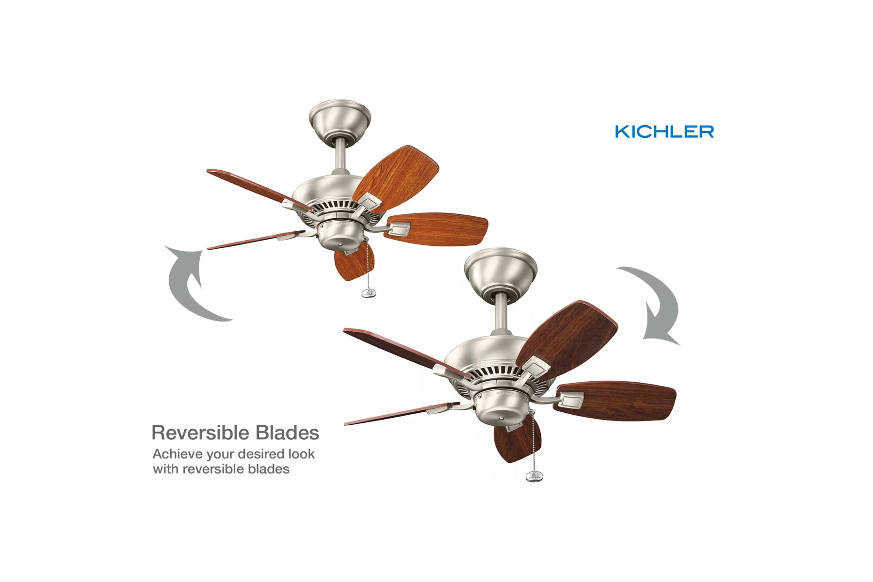 Kichler 300103obb Oil Brushed Bronze Canfield 30 Indoor Outdoor Ceiling Fan Wiring Diagram With Blades And Downrod