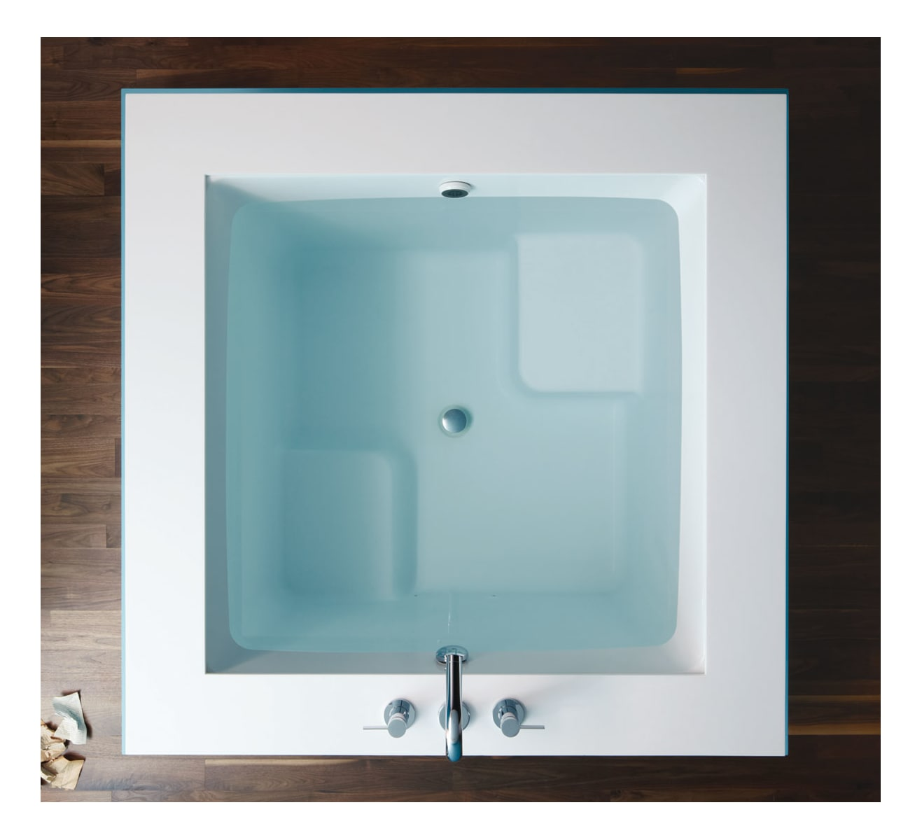 Kohler K-1968-0 White Drop In Cube Soaking Bath Tub from the ...