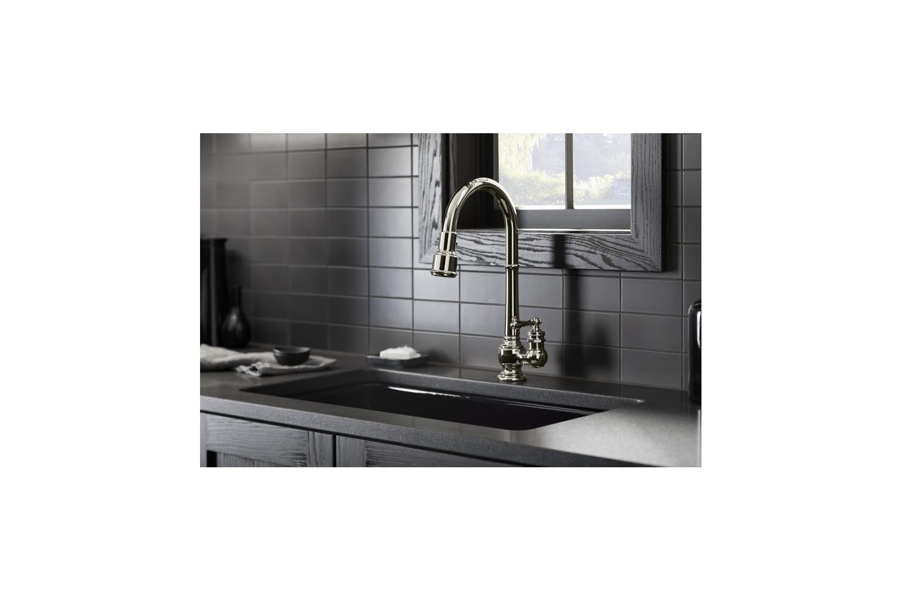 Kohler K-99260-SN Vibrant Polished Nickel Artifacts Pullout Spray ...