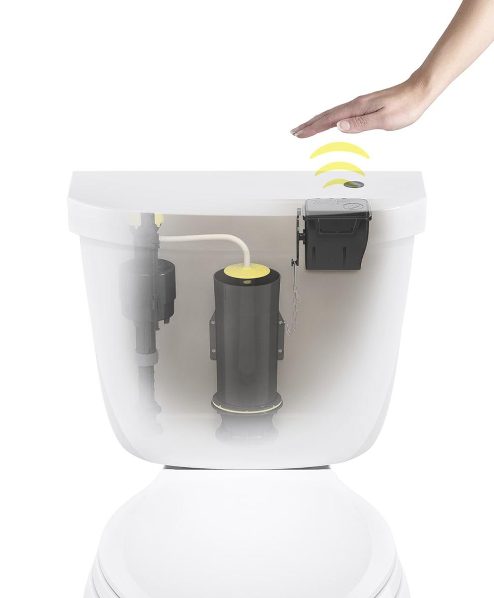 Kohler K 1954 0 White Touchless Flush Toilet Retrofit Kit Faucetdirect