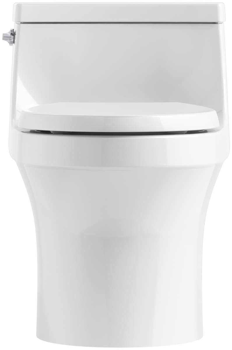 Cool Kohler K 4007 0 White San Souci 1 28 Gpf One Piece Round Pabps2019 Chair Design Images Pabps2019Com