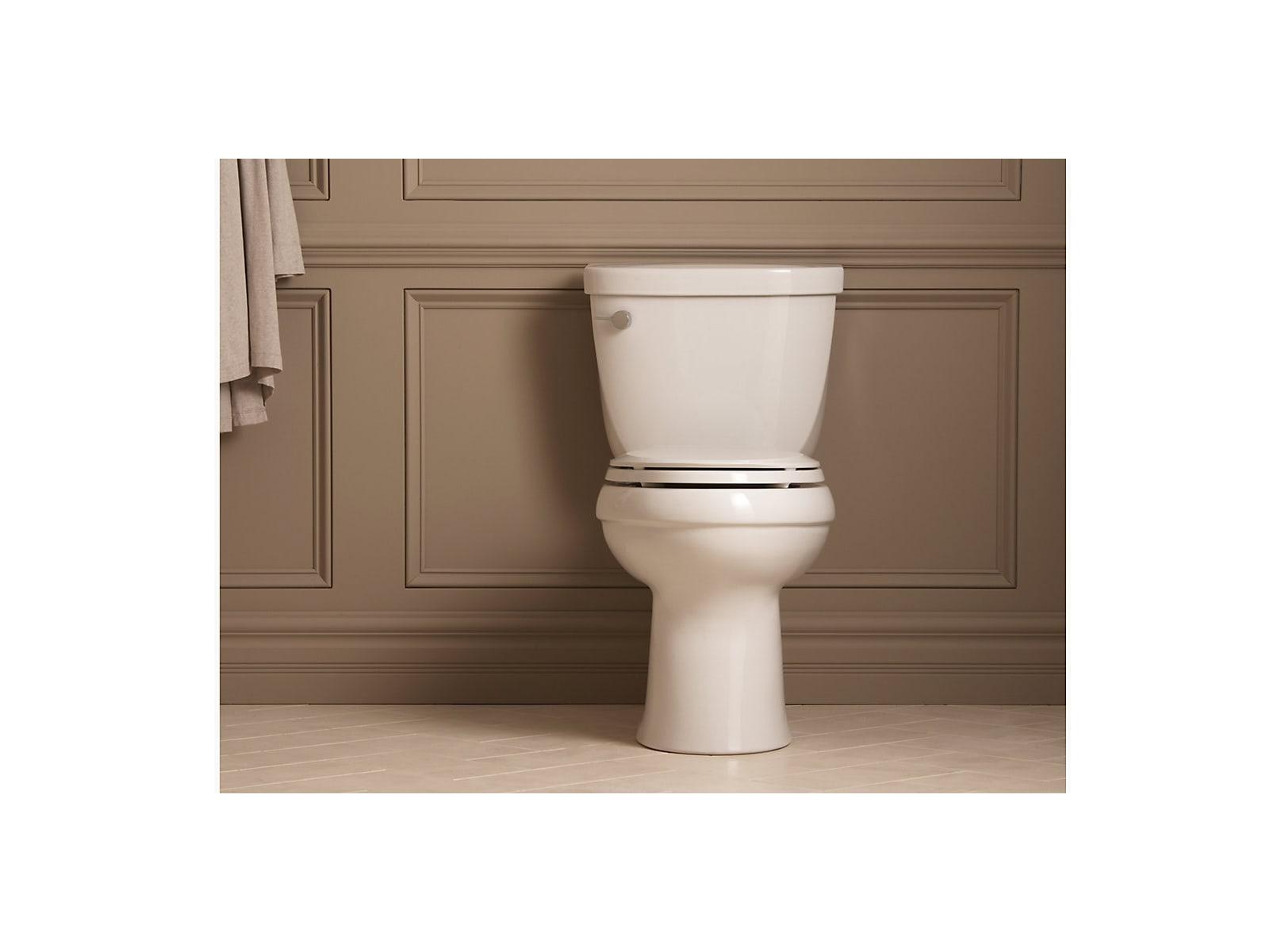 Kohler K-4309-0 White Cimarron Comfort Height Elongated Toilet Bowl ...