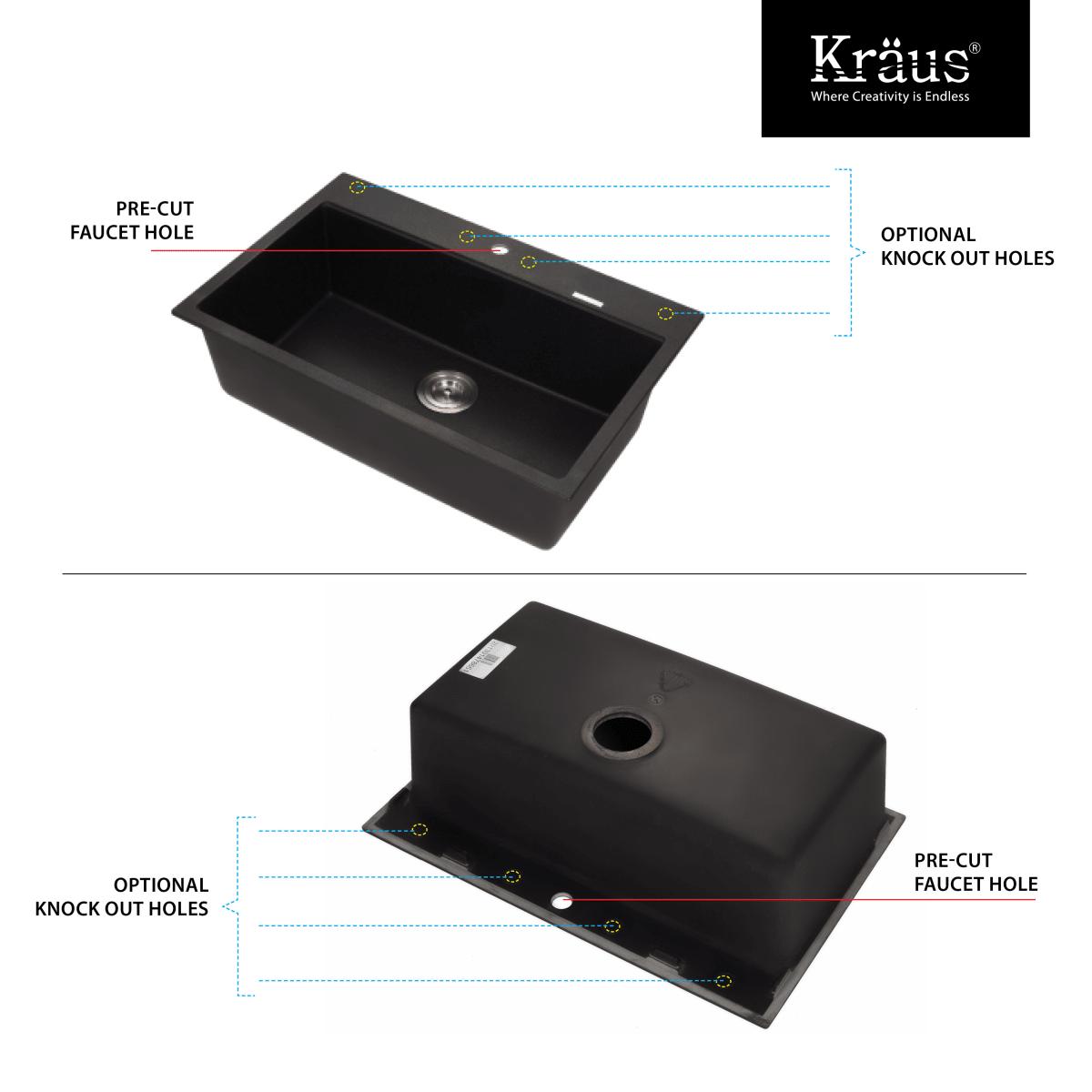 Kraus KGD-412B-KPF-2230CH Black Onyx / Chrome Kitchen Combo - 30-3/4 ...