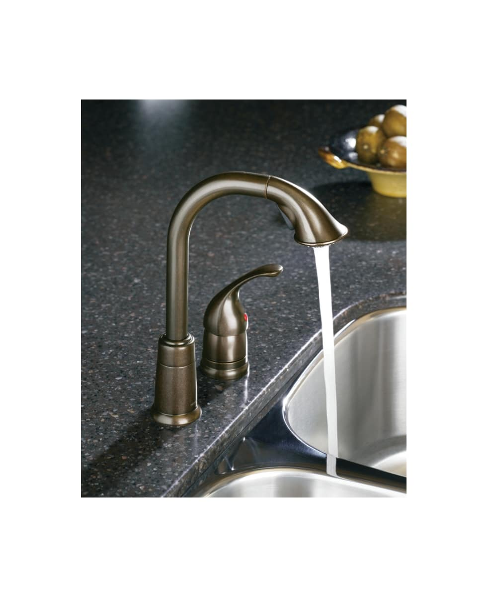 Moen 5955SRS Spot Resist Stainless Single Handle High Arc Pulldown ...