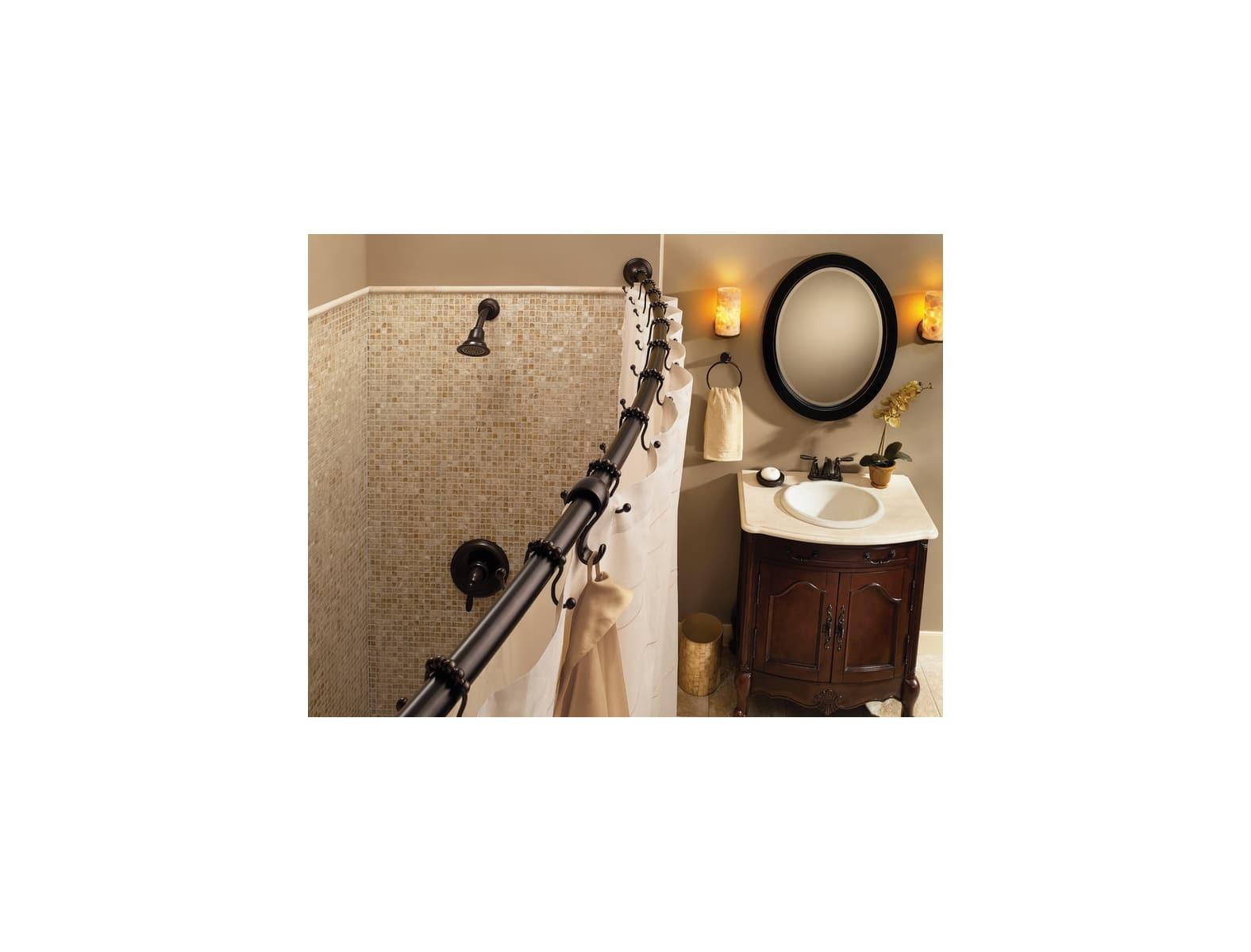 Moen Dn2160ch Chrome 54 72 Adjustable Curved Shower