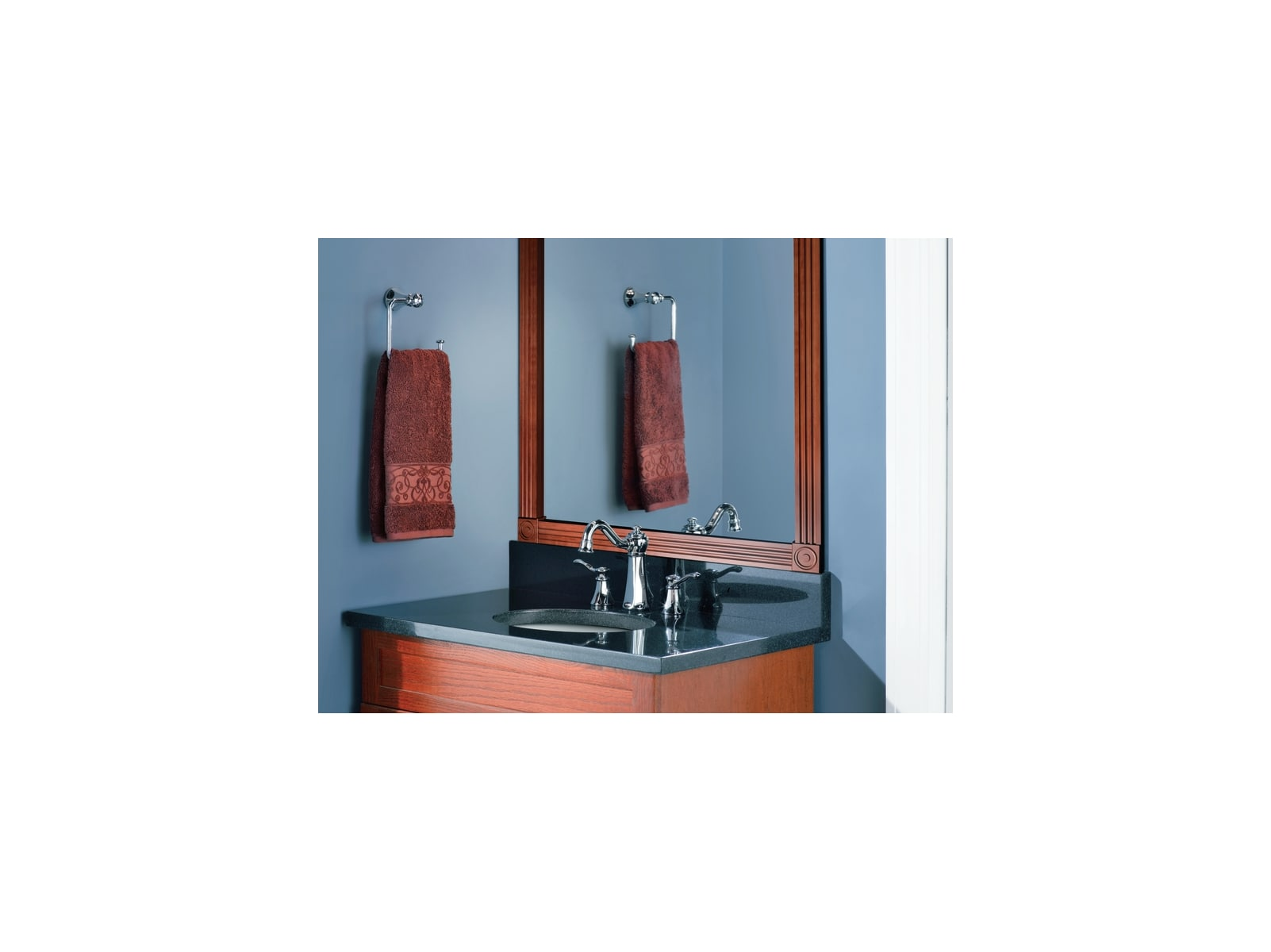 Moen T6305 Chrome Double Handle Widespread Bathroom Faucet from the ...