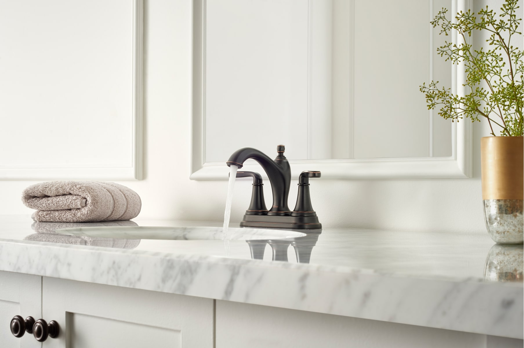 Pfister LG48-MG0Y Tuscan Bronze Northcott Centerset Bathroom Faucet ...