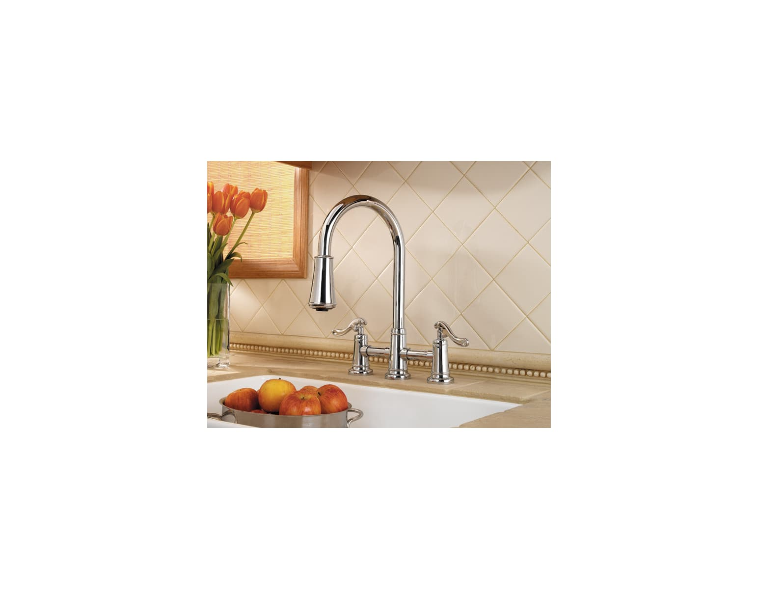 Pfister Lg531 Ypk Brushed Nickel Ashfield 2 Handle Pull Down Kitchen Gt Plumbing Systems Diagram Faucet With Accudock Sprayhead Flex Line Supply Lines And Pfast Connect Technologies