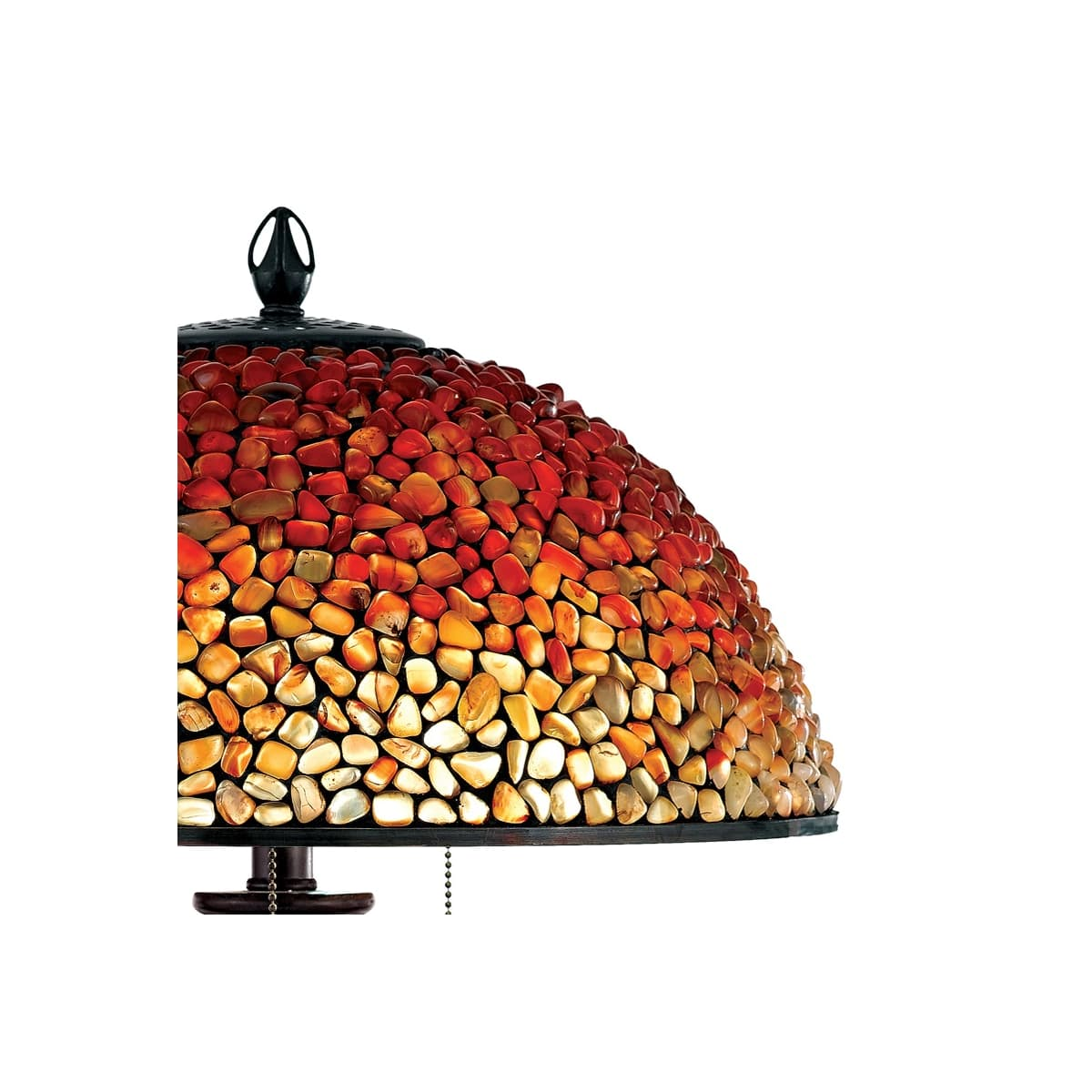 Quoizel Tf135tbc Burnt Cinnamon Pomez 3 Light 30 Tall Table Lamp With Agate Stone Shade Faucetdirect Com
