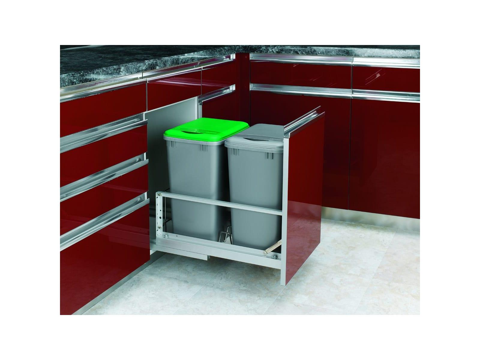 Rev A Shelf 5349 18dm 2 White Series Bottom Mount Double Bin Trash Can With Soft Close Slides 35 Quart Capacity Per Pulirect