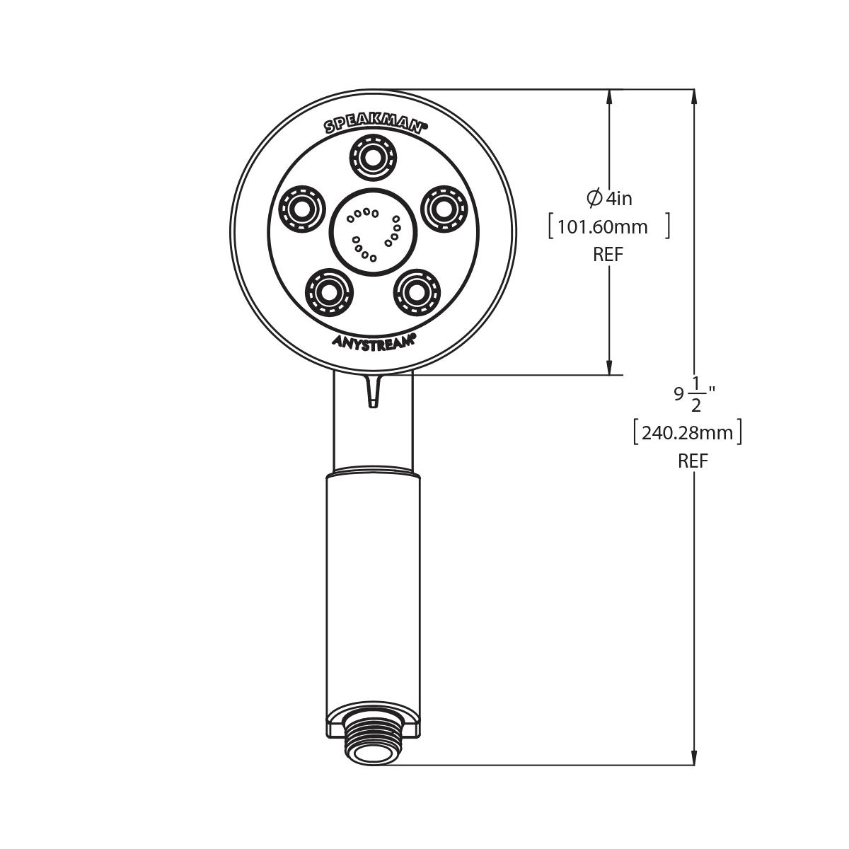 Speakman VS-3010-E175 Neo 1.75 GPM Multi Function Hand Shower