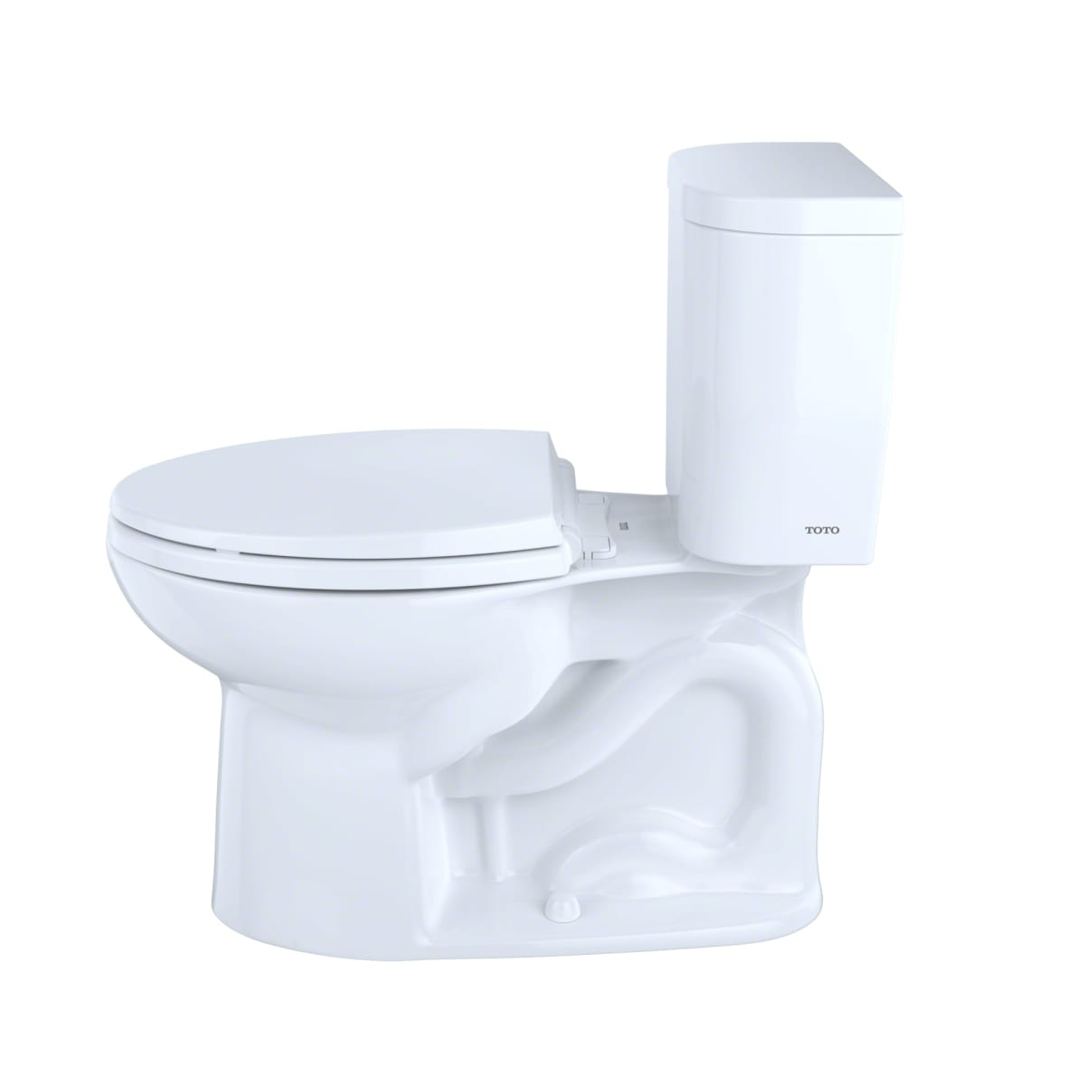 Toto CST244EF#01 Cotton Entrada 1.28 GPF Two-Piece Elongated Toilet ...