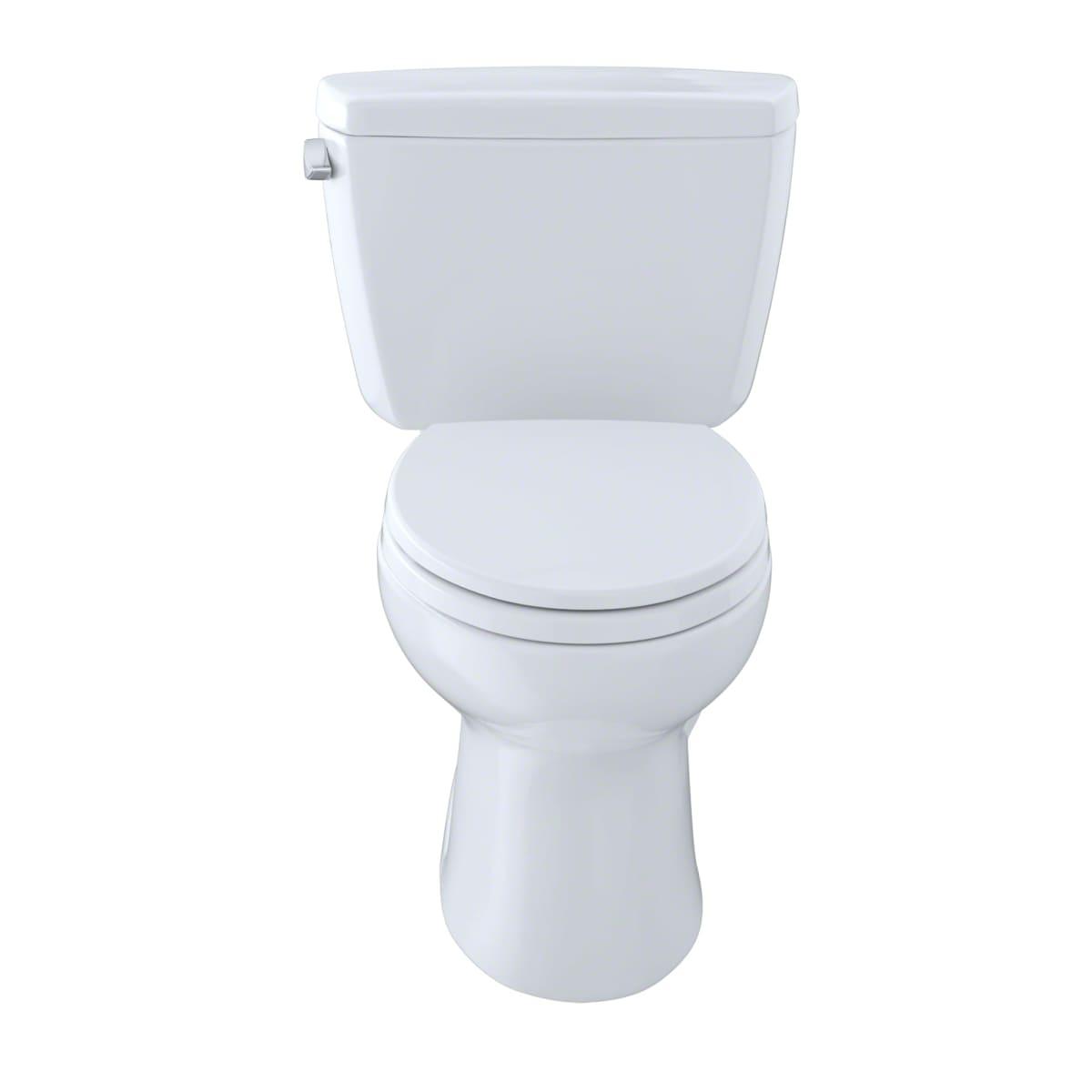 Toto CST744SF.10#01 Cotton Drake 1.6 GPF Two Piece Elongated Toilet ...