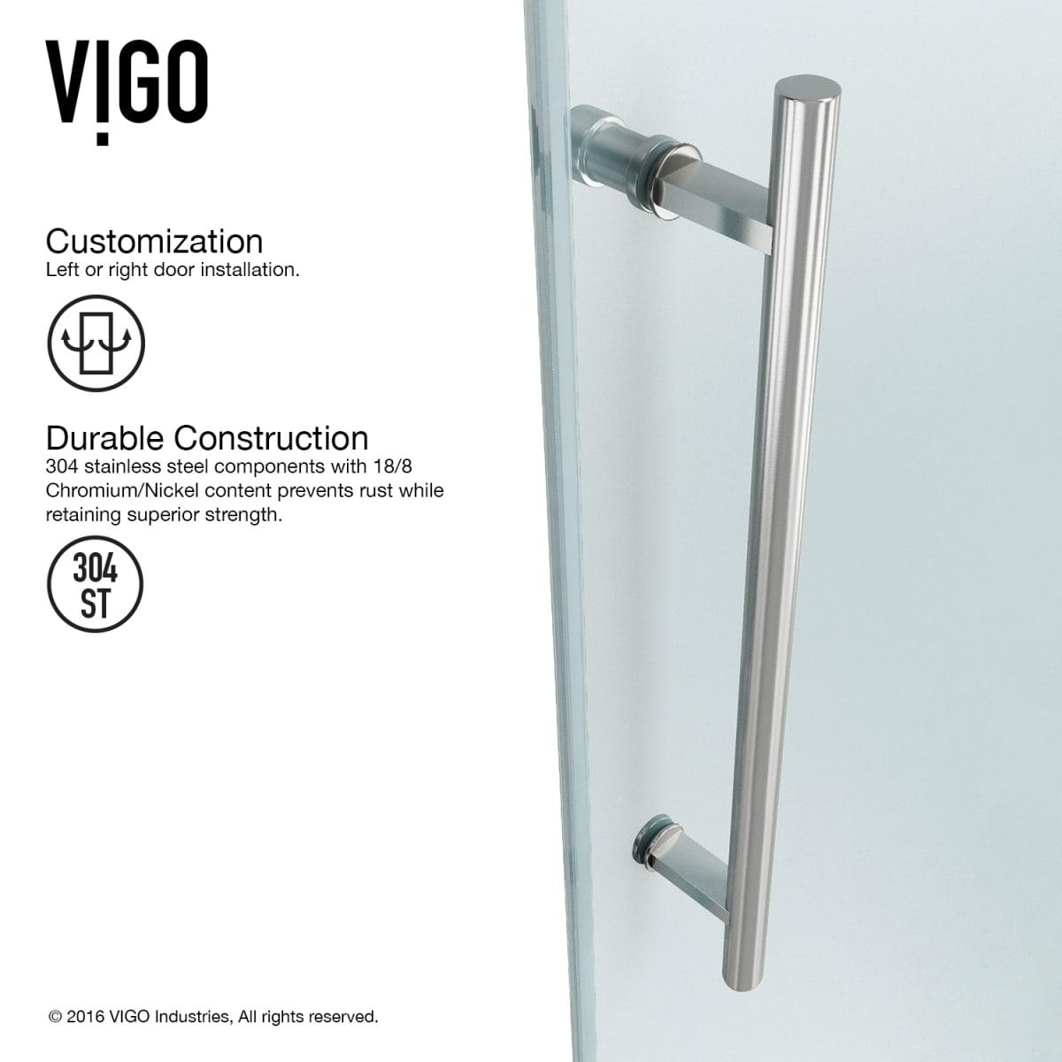 Vigo Vg6051chcl60 Clear Chrome Winslow 74 High X 60 Wide X 34 5