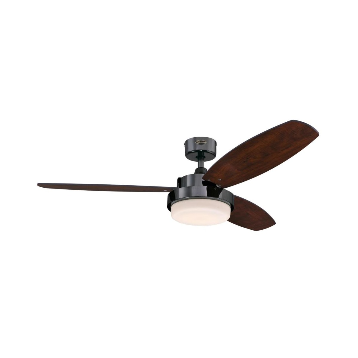 Westinghouse 7220300 Gun Metal Alloy Led 52 3 Blade Indoor Ceiling Fan Remote Control And Led Light Kit Included Lightingdirect Com