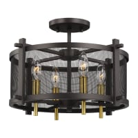 Feiss Palmyra 4 Light 17-in Wide Outdoor Semi Flush Ceiling Fixture