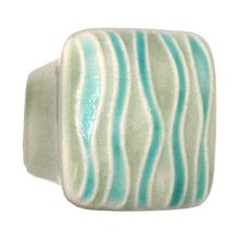 Ceramic Square 1 5/8 Inch Square Cabinet Knob