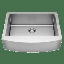 Single Basin Kitchen Sink 33 X 22 American standard kitchen sinks pekoe 33 single basin stainless steel kitchen sink for undermount or farmhouse installation basin workwithnaturefo
