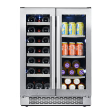 24 Inch Wide 21 Bottle and 60 Can Capacity Built-In Wine Cooler and Beverage 2e6b3cbea
