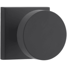 Modern Passage Door Knob Set with Modern Square Trim from the Reserve Collection