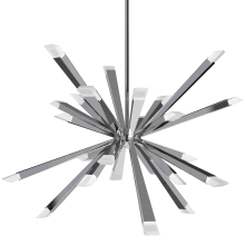 "Starburst 24 Light 29-1/2"" Wide LED Sputnik Chandelier"