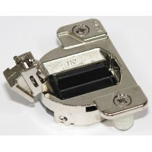 COMPACT Press-In Hinge with 110 Degree Opening Angle and Two Piece Assembly