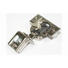 BLUMOTION 1 Inch Compact Full Overlay Press-In Doweled Cabinet Door Hinge with 110-Degree Opening Angle and Soft Close Function